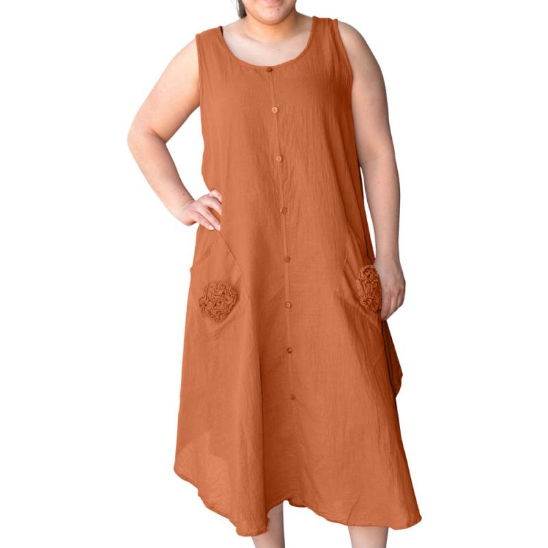 [OSFM] CRINKLE COTTON SLEEVELESS DRESS