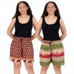 1837 CRINKLE RAYON SHORTS